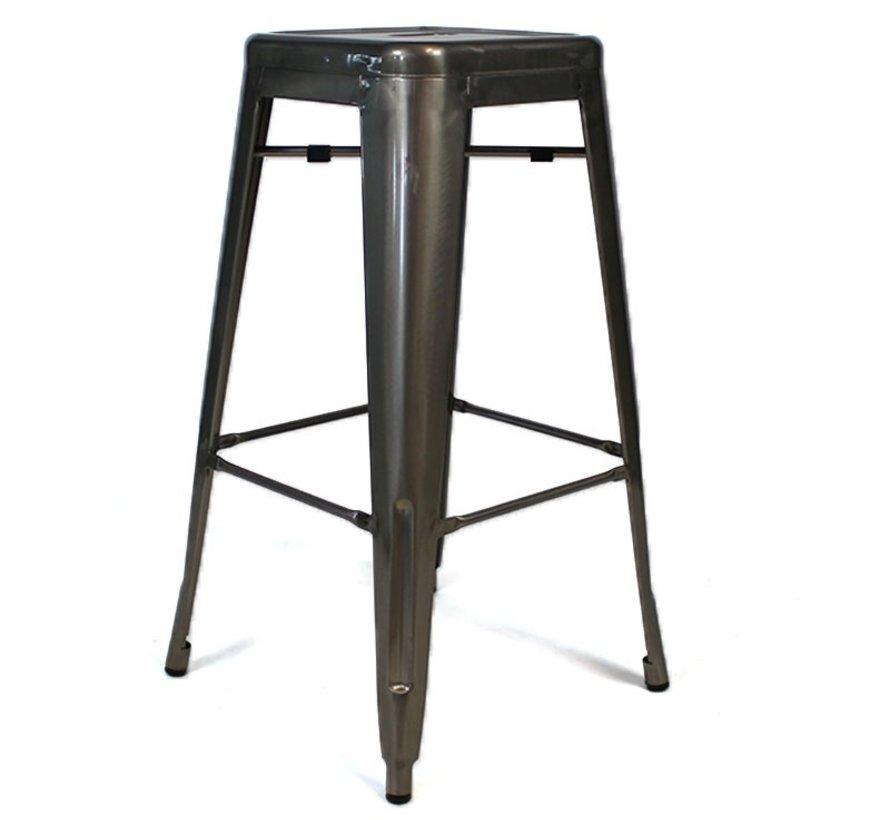 Stapelbarer Gastro Retro Café Barhocker Metall 76cm