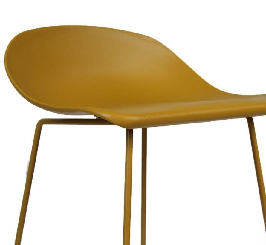 Gastro Barhocker Erica skandinavisch Design gelb 76 cm
