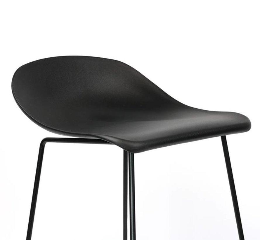 Gastro Barhocker Erica skandinavisch Design schwarz 76 cm