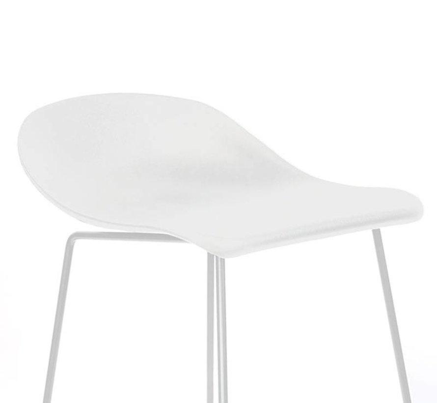 Gastro Barhocker Erica skandinavisch Design weiß 76 cm