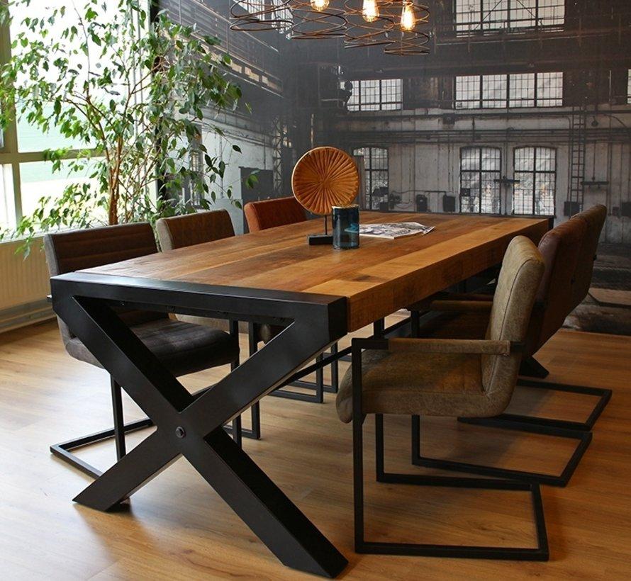 Esstisch Mango gekreuzt Mangoholz 220x100x76cm