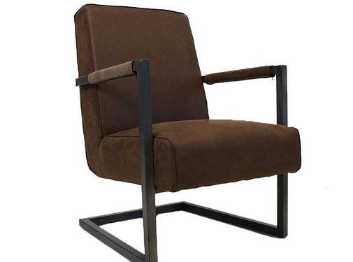 Lounge Sessel Bruce Eco-Leder braun
