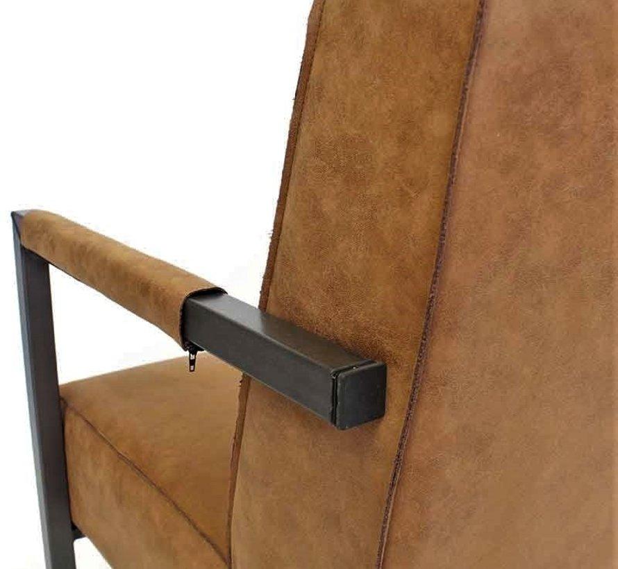 Lounge Sessel Bruce Eco-Leder cognac