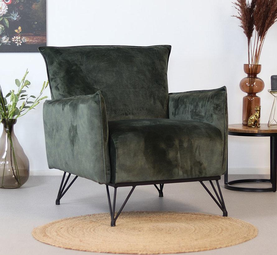 Lounge Sessel Mika Samt grün