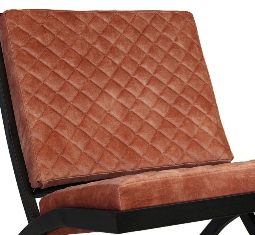 Luxury Design Sessel Madrid Samt rosé