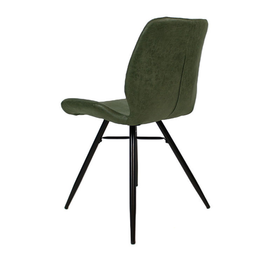 Stuhl Barrel Eco-Leder olivgrün