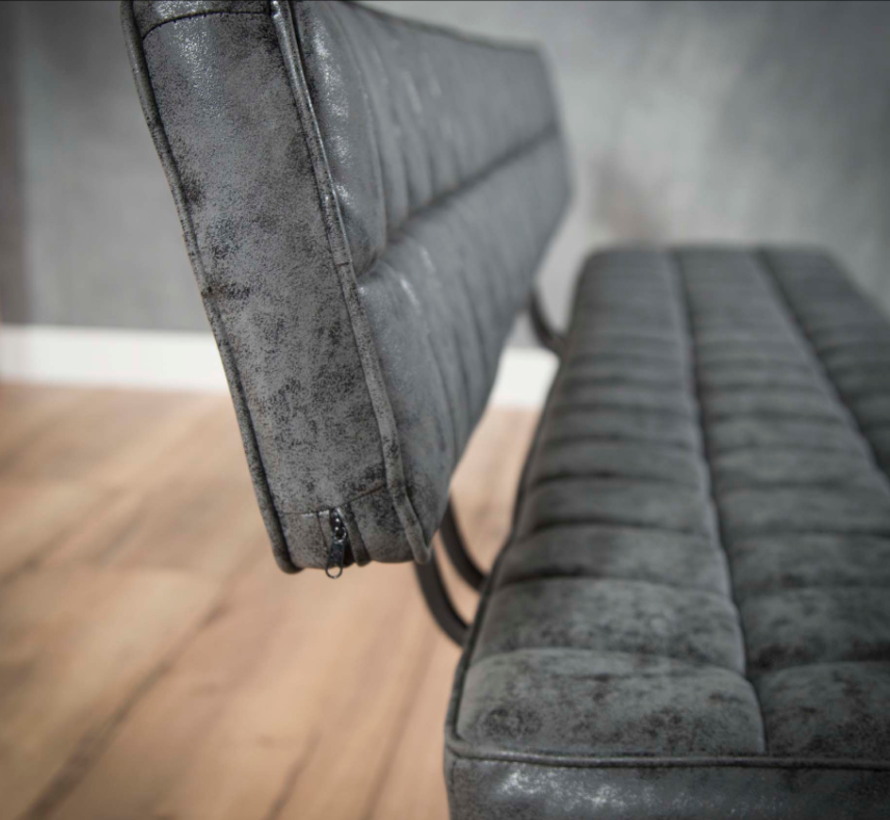 Sitzbank Brent WAX PU schwarz 150cm