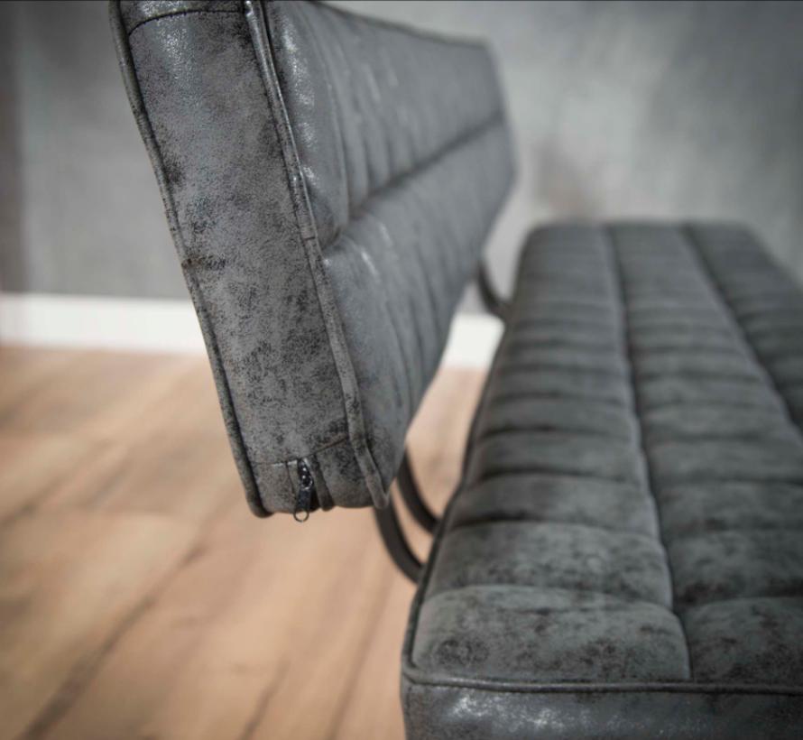 Sitzbank Brent WAX PU schwarz 180cm