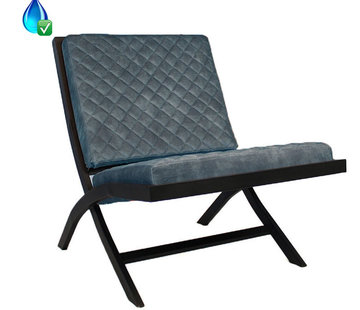 Luxury Design Sessel Madrid Samt blau