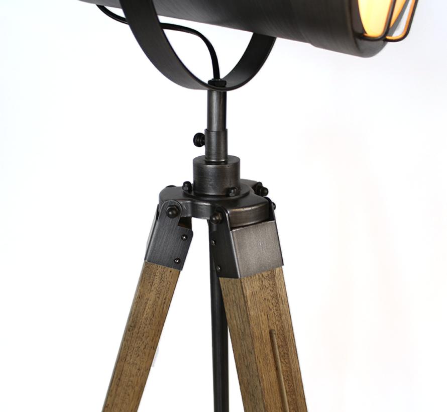 Stehlampe Berlin 1-flammig Holz/Metall