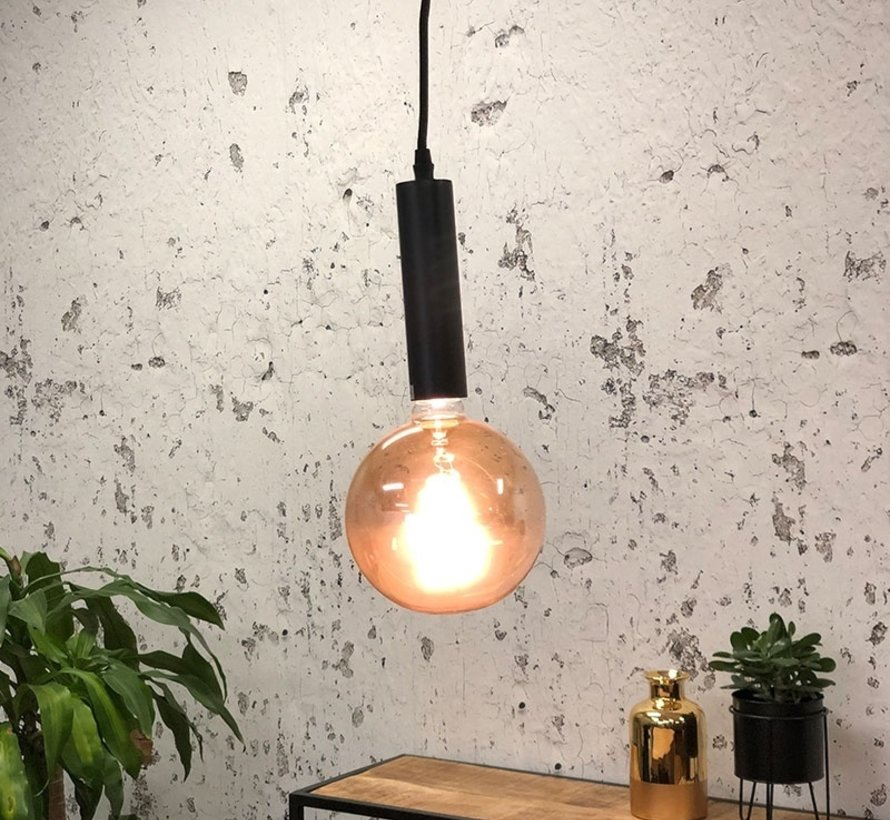 Hängeleuchte Single 1-flammig schwarz matt 150cm