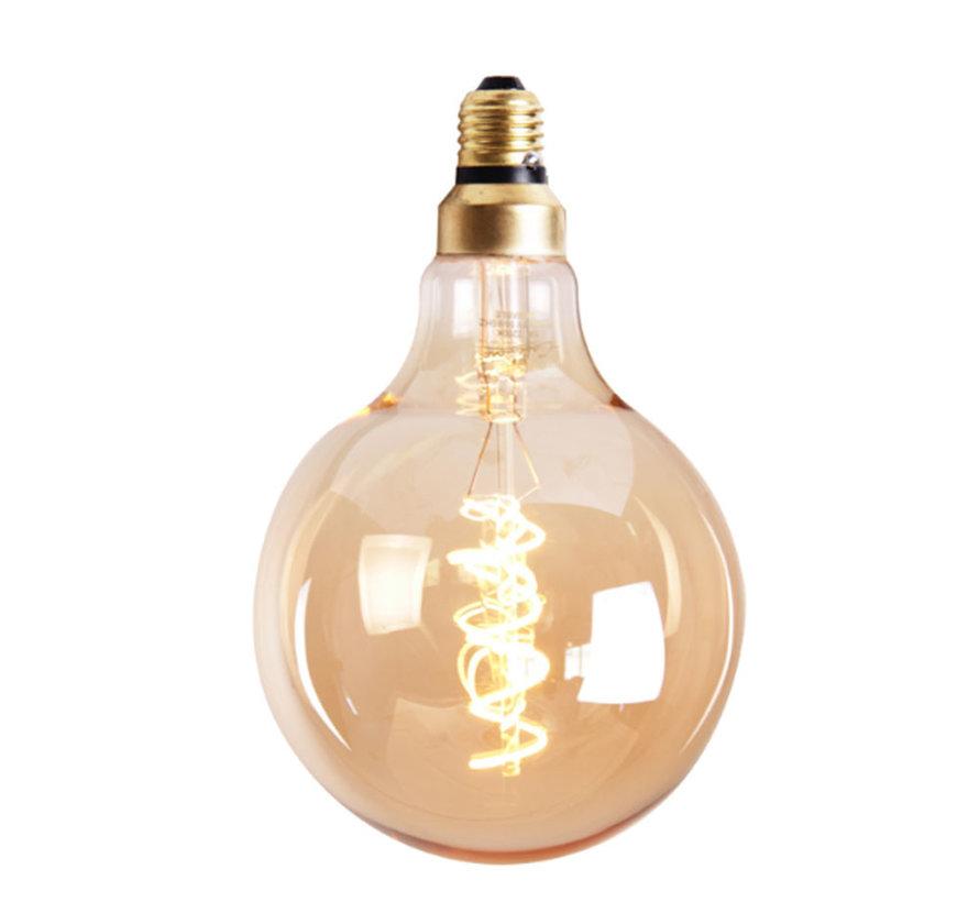 Leuchtmittel Round LED Ø 9,5 cm gold dimmbar - 5 Watt