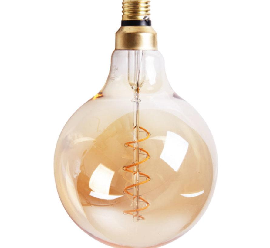 LeuchtmittelRound  LED Ø 15 cm gold dimmbar - 5 Watt