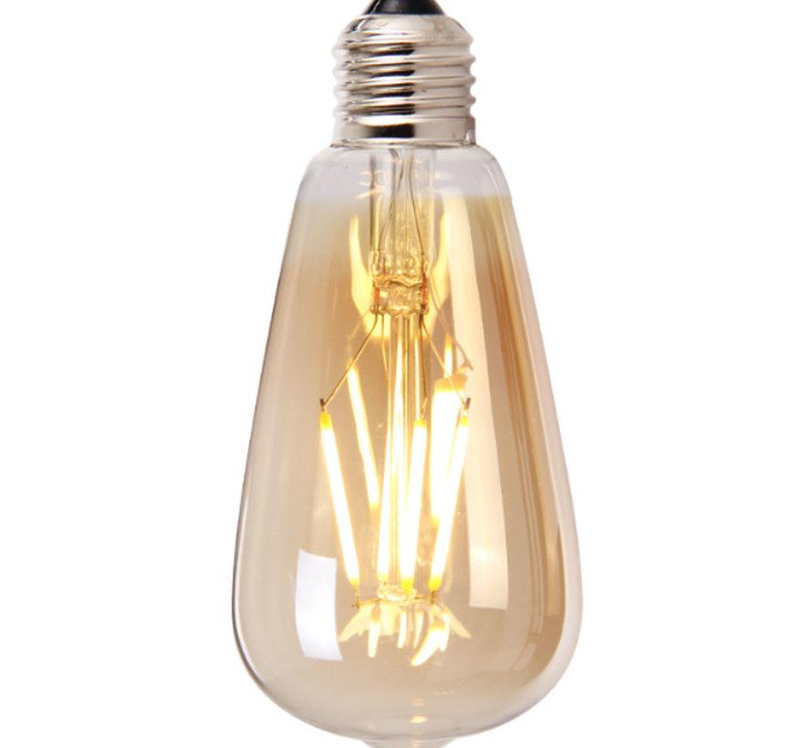 Leuchtmittel Tropfen LED Ø 14,5 cm gold dimmbar - 4 Watt