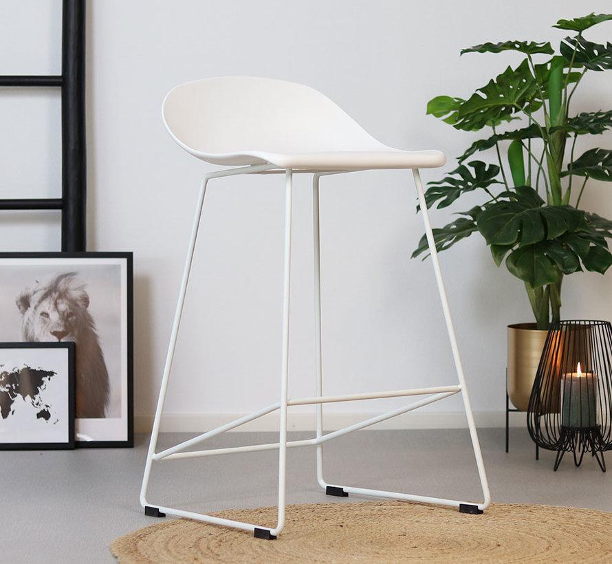 Gastro Barhocker Erica skandinavisch Design weiß 66 cm
