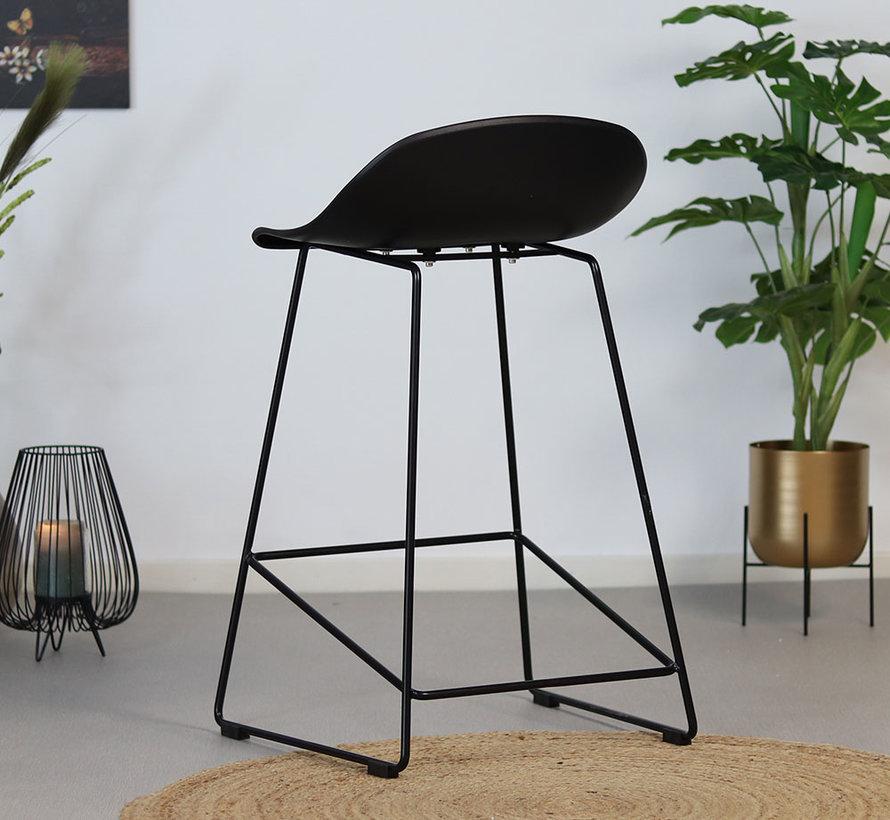 Gastro Barhocker Erica skandinavisch Design schwarz 66 cm