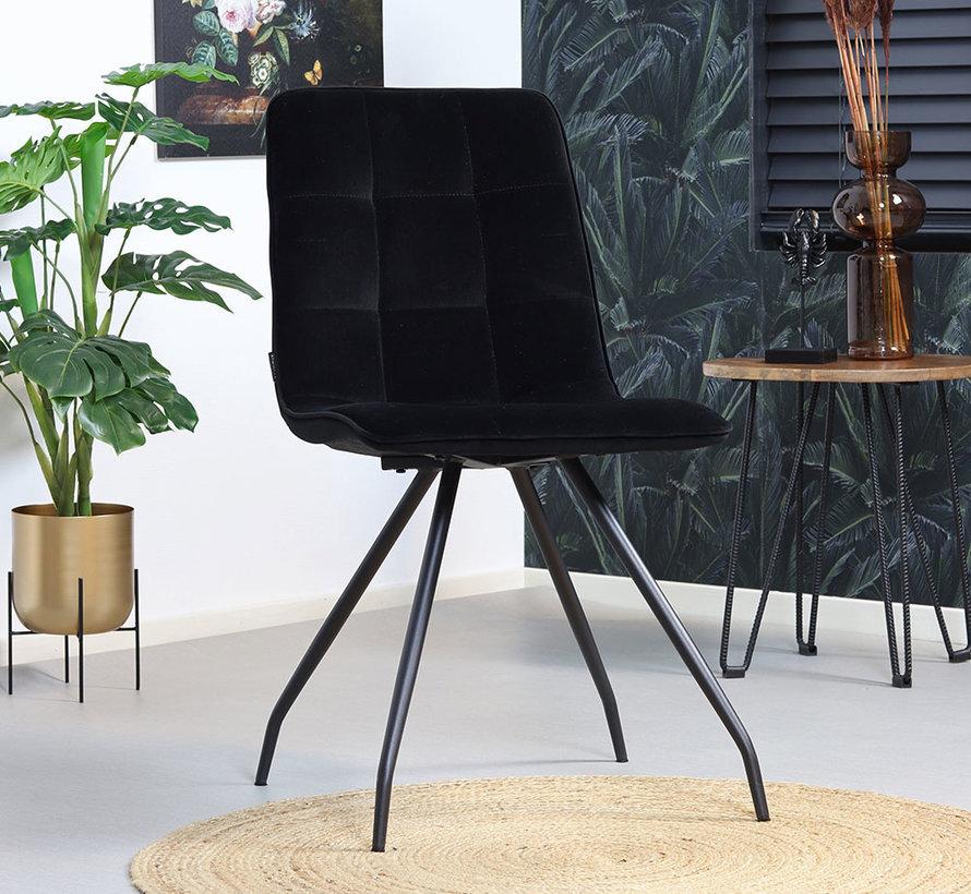 Gastro Stuhl Lisa Samt schwarz