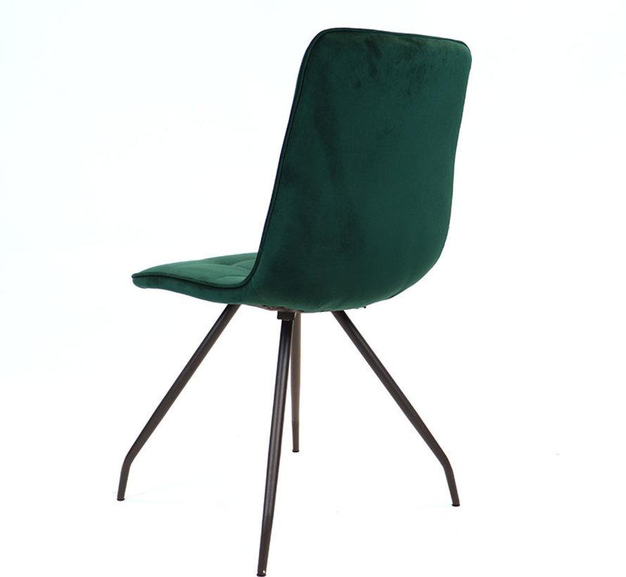 Gastro Stuhl Lisa Samt dunkelgrün