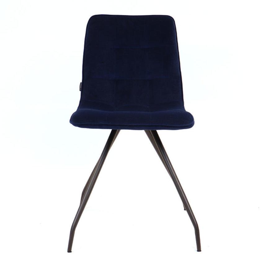 Gastro Stuhl Lisa Samt dunkelblau