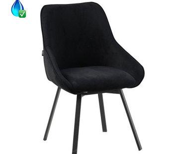 Bronx71 Gastro Stuhl Luna Cord drehbar schwarz