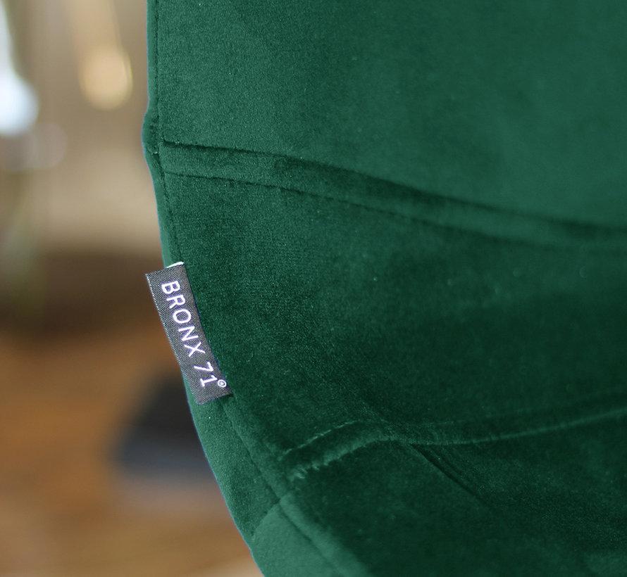 Gastro Barhocker Samt Frenkie grün höhenverstellbar 59 - 76 cm