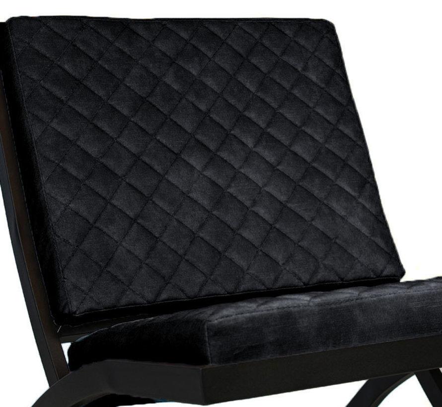 Luxury Design Sessel Madrid Samt anthrazit