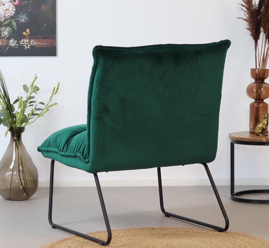 Gastro Sessel Samt Malaga dunkelgrün