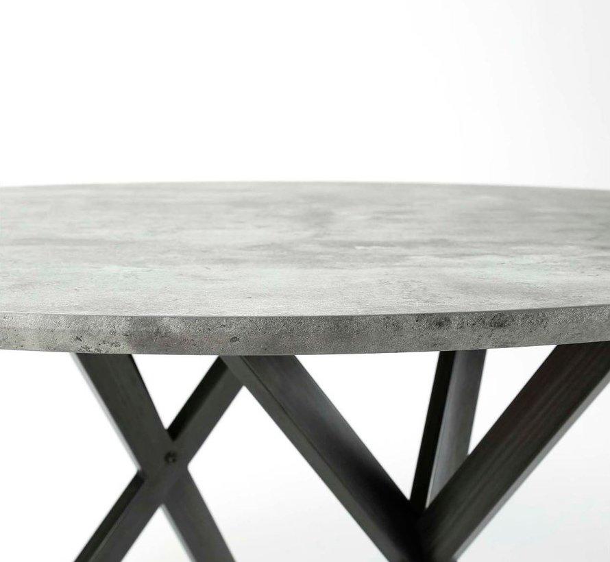 Esstisch Jelle MDF rund betongrau Ø 120x76cm