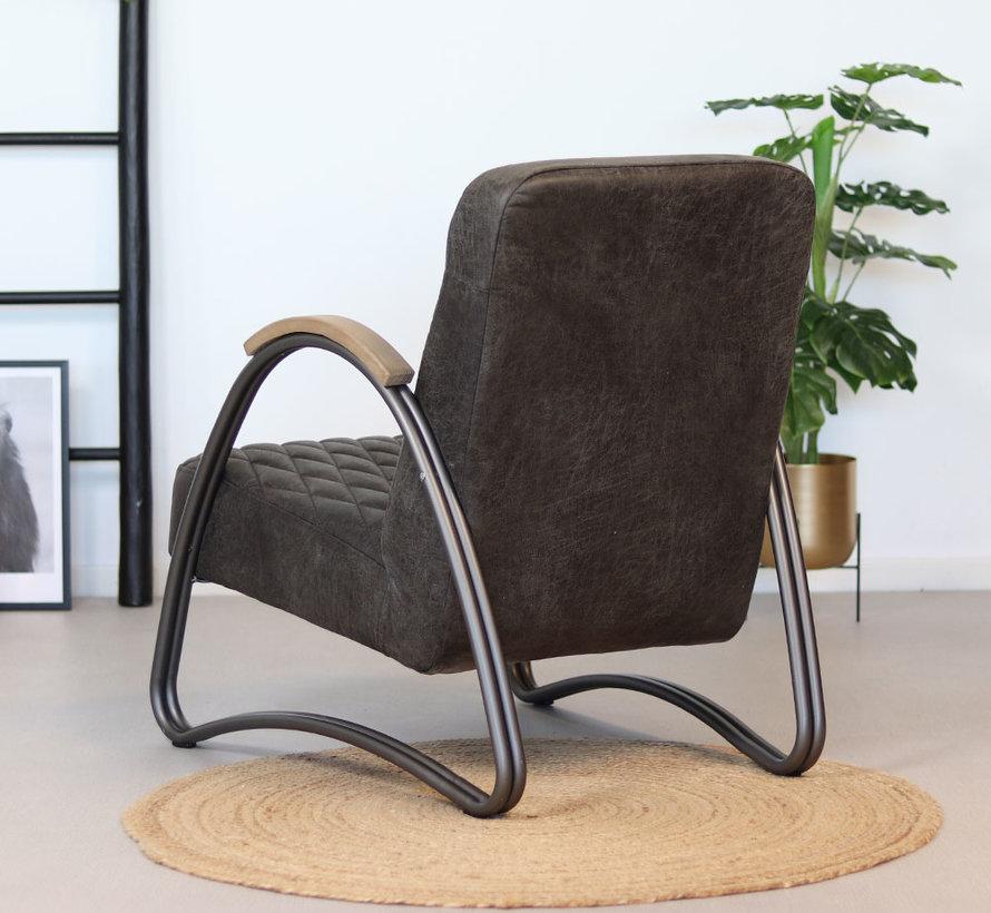 Ledersessel Ivy Industrial Design Eco-Leder anthrazit