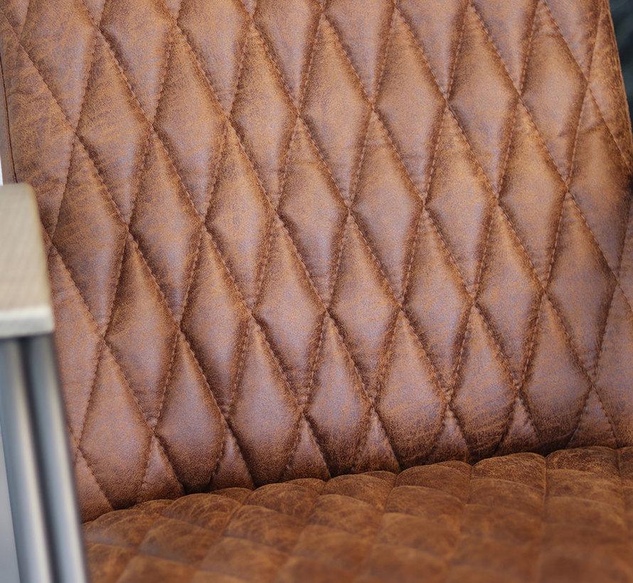 Ledersessel Ivy Industrial Design Eco-Leder cognac