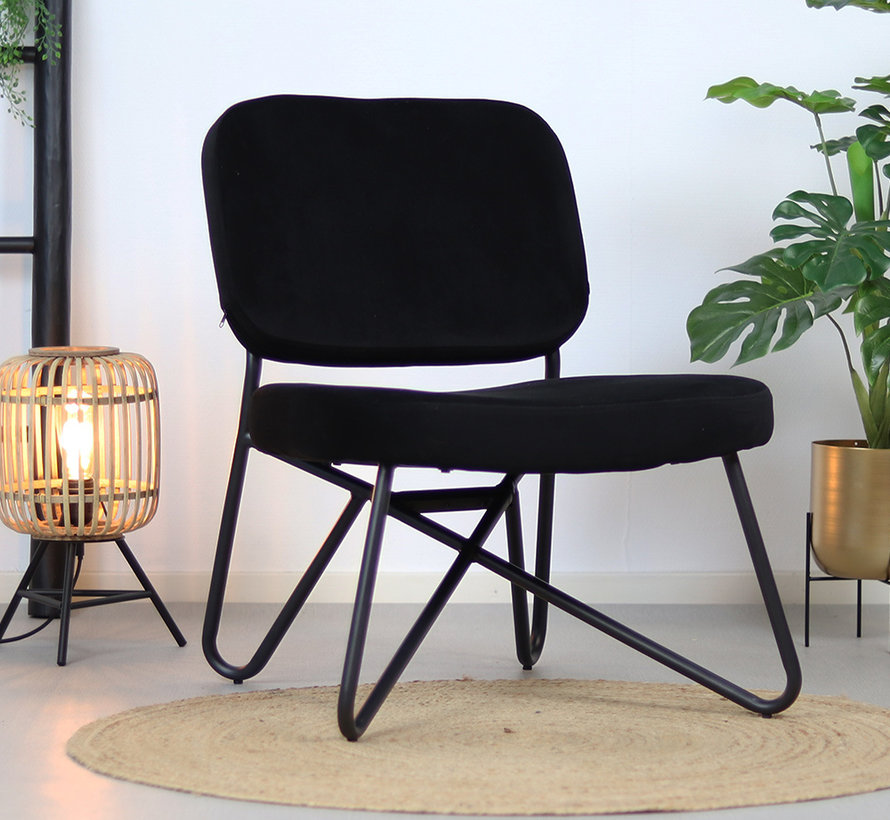Sessel Samt Julia schwarz