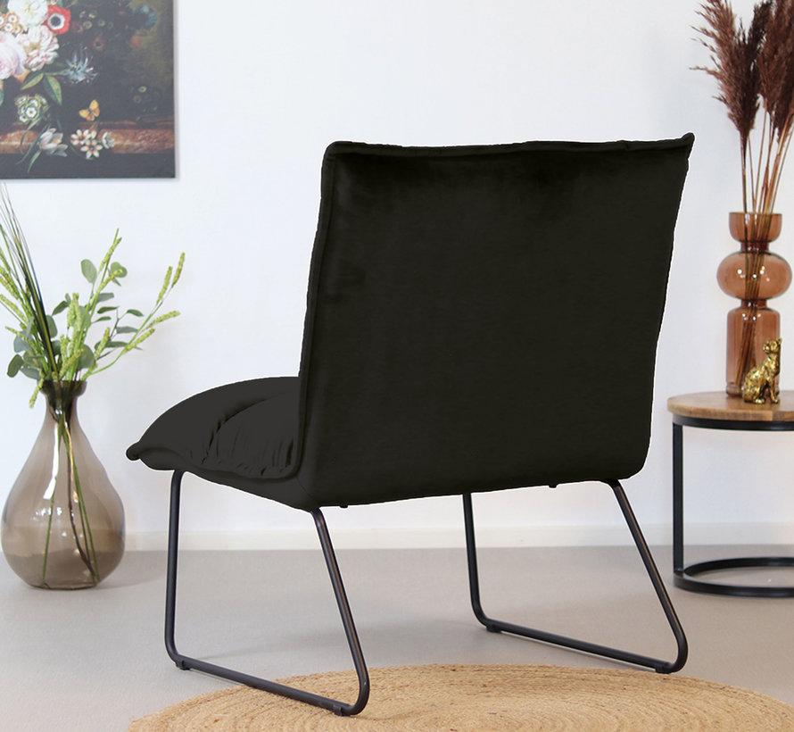 Gastro Sessel Samt Malaga schwarz wasserabweisend