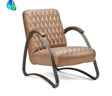 Bronx71 Ledersessel Ivy Industrial Design Eco-Leder beige