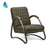 Bronx71 Ledersessel Ivy Industrial Design Eco-Leder olivgrün