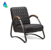 Bronx71 Ledersessel Ivy Industrial Design Eco-Leder anthrazit