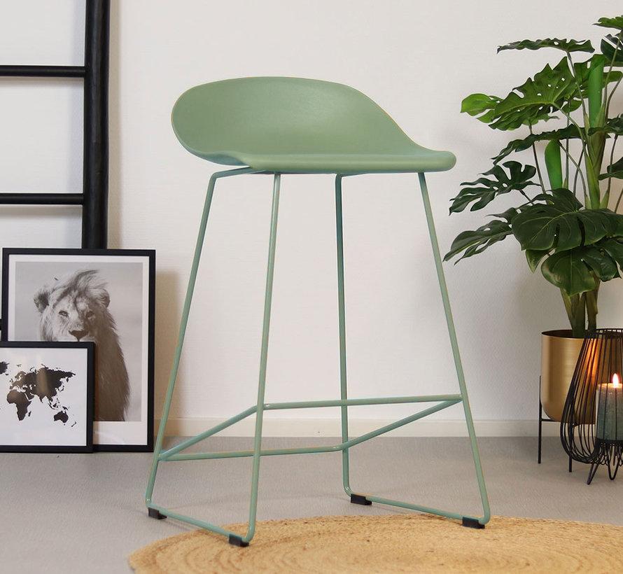 Gastro Barhocker Erica skandinavisch Design grün 66 cm