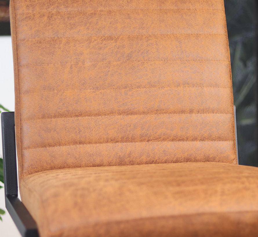Gastro Barstuhl Block Eco-Leder cognac 79 cm
