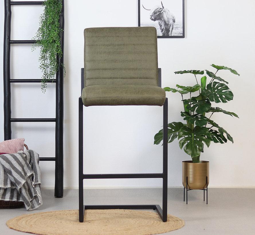 Gastro Barstuhl Block Eco-Leder olivgrün 79 cm