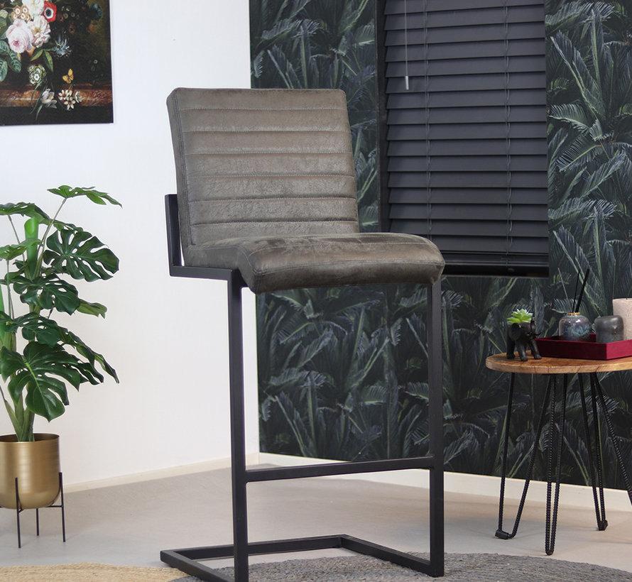 Gastro Barstuhl Block Eco-Leder anthrazit 79 cm