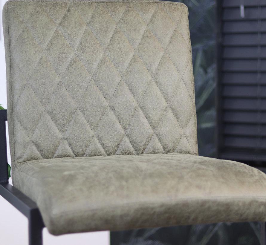 Gastro Barstuhl Diamond Eco-Leder olivgrün 79 cm