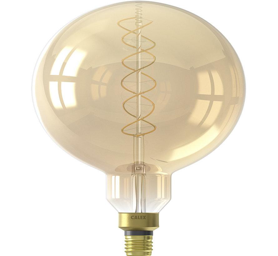 LED Glühlampe rund goldfarbig ø20cm