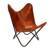 Bronx71 Butterfly Chair Vice cognac Leder