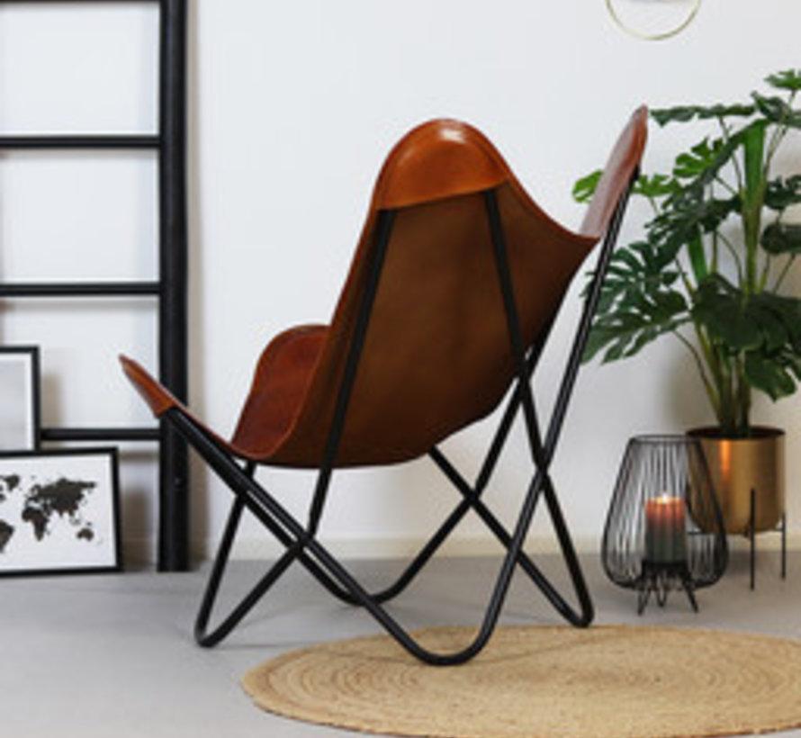 Butterfly Chair Vice cognac Leder