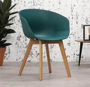 Skandinavischer Stuhl Tyler grün