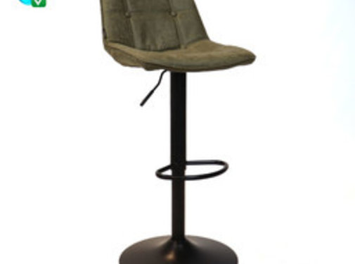 Bronx71 Barhocker Leder Rocky olivgrün höhenverstellbar 59-77 cm