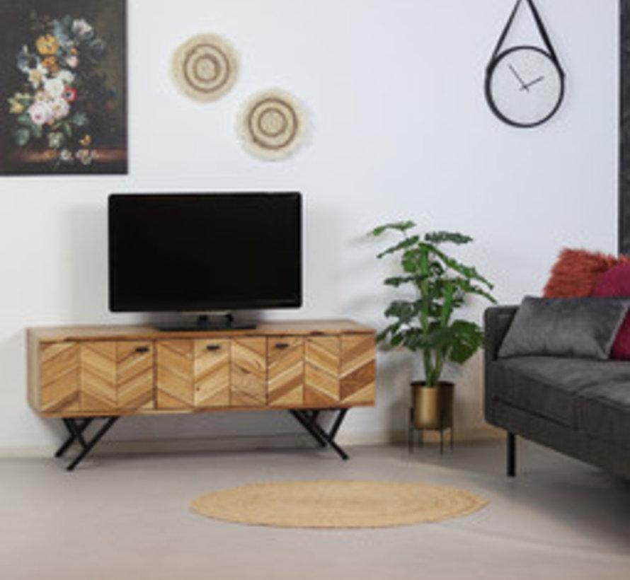Tv-meubel Hunter acaciahout 140 x 40 x 51 cm