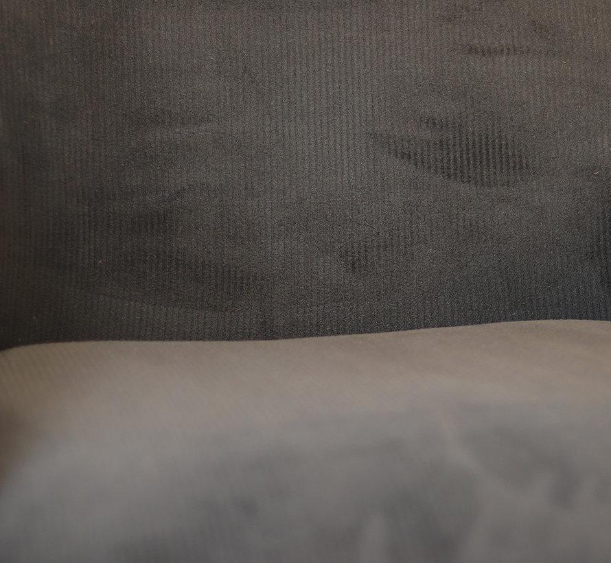 Sessel Emily Cord mit Armlehne schwarz