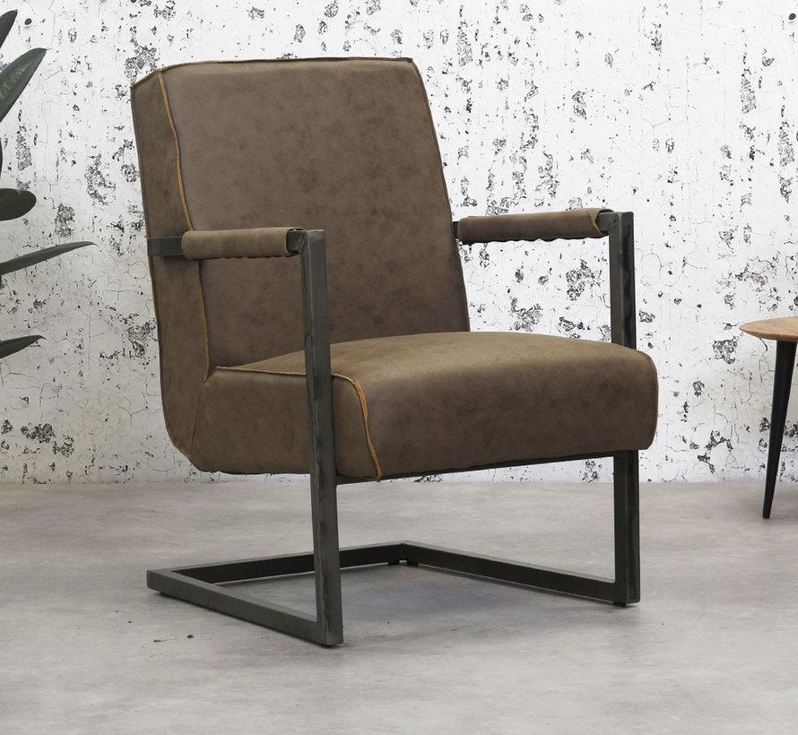 Lounge Sessel Bruce Eco-Leder taupe
