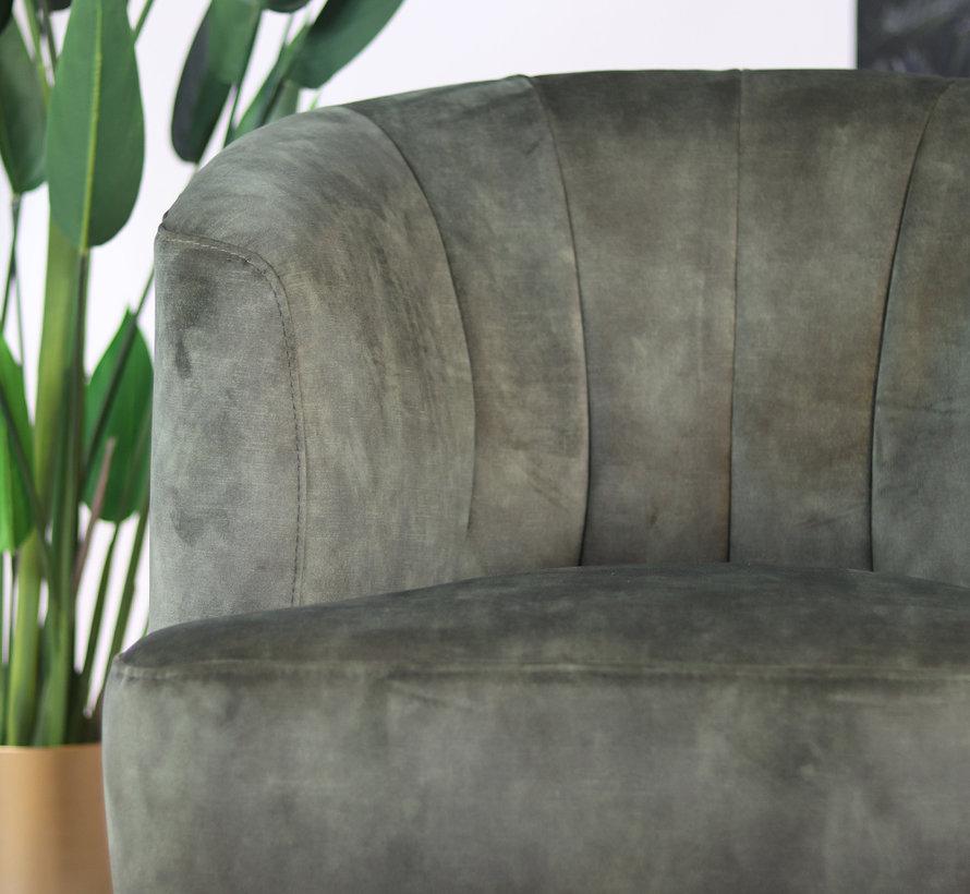 Samt Sessel Billy modern grün