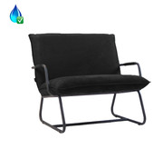 Bronx71 Lounge Sessel Ohio schwarz Polyester